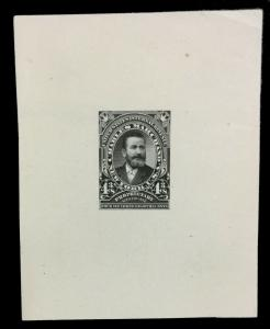 MOMEN: US STAMPS #RS300P1 82.5*65mm REVENUE PLATE PROOF ON INDIA MOUNTED ON CARD