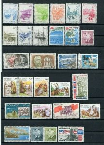 D123655 Monaco MNH Year 1986 46 values