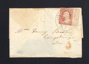 KENTUCKY: Cynthia 1850's #11 Margin w/ TOPPAN, CARPENT(ER) Plate Inscription