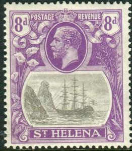 ST HELENA-1923 8d Grey & Bright Violet CLEFT ROCK.  Lightly mounted mint Sg 105c