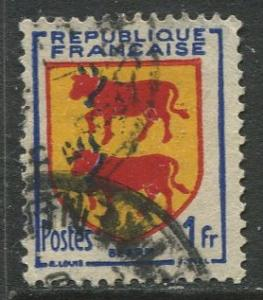 France - Scott 661 - General Definitive Issue -1951 - Used -1fr Stamp