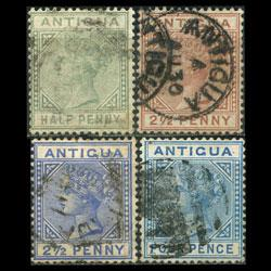 ANTIGUA 1882 - Scott# 12-5 Queen 1/2-4p Used