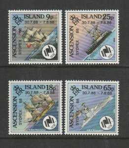 Ascension 1988 Sydpax 88, Ships, UM/MNH SG 465/8