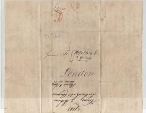 German To London 1843 Stamps Cover + Letter  Ref: R7973