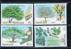 St Lucia 649-652 Trees MNH (S0111)