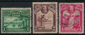 British Guiana #205-7  CV $2.60  (#205 defect)