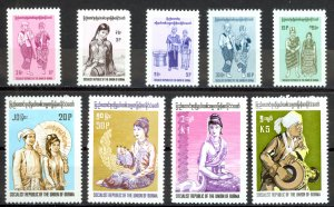 Burma Sc# 244-251 MNH 1974-1976 People