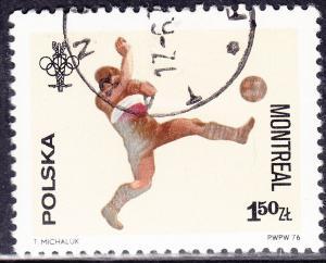 Poland 2168 Olympic Soccer 1976