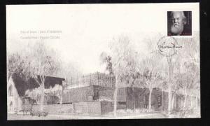 Canada-Sc#2660-stamp on FDC-Robertson Davies-2013-