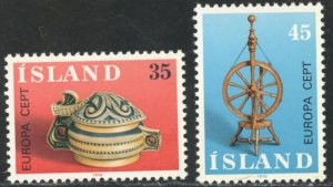 Iceland Scott 490-91 MVFNHOG - EUROPA/Culture - SCV $2.80