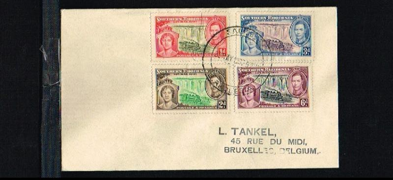 1937 - Southern Rhodesia FDC - Famous People - Royalty - Coronation King Geor...