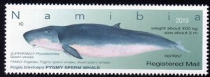 Namibia - 2019 Whales Registered Mail Reprint MNH**