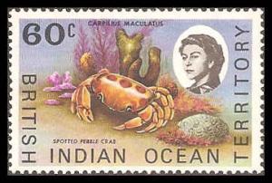 British Indian Ocean Territory 25 Mint VF XLH
