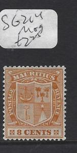 MAURITIUS   (P0810B)  ARMS  8C  SG 214    MOG