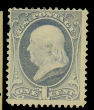 206 MINT F-VF No Gum Pulled perf Cat$21