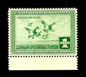 momen: US Stamps #RW4 Duck Mint OG NH PSE Graded 85