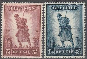 Belgium #B123-4  F-VF Unused CV $160.00 (A16266)