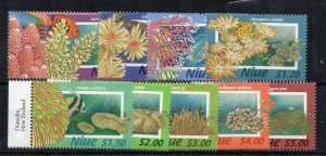 Niue 1996 Corals set to $5 MNH