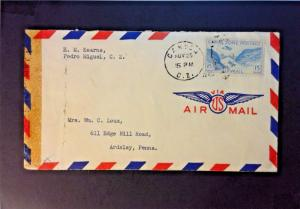 Canal Zone 1943 Censor Cover to USA - Z751