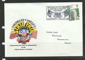 GB 1976 American Bicentenary, London SW1 Special cancel, Independence day cancel