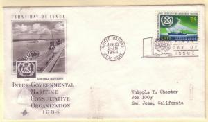 United Nations FDC Sc. # 124  Maritime Org. Ships     L 60