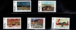 Palau Scott 28-32  MNH** Christmas 1983 stamp set