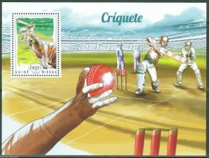 GUINEA BISSAU 2014 CRICKET SOUVENIR SHEET MINT NH
