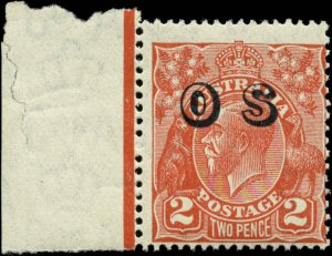 Australia Scott #O8 with Margin Tab Mint Never Hinged