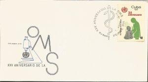 V) 1972 CARIBBEAN, WORLD HEALTH DAY, WORLD HEALTH ORGANIZATION, 25TH ANNIVERSARY