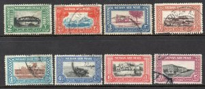 South Sudan 1950 KGVI Air set SG 115-122 used CV
