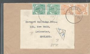 MALAYA PAHANG (PP2508B) 1955 2C PR+ 3C PR TO ENGLAND TAXED