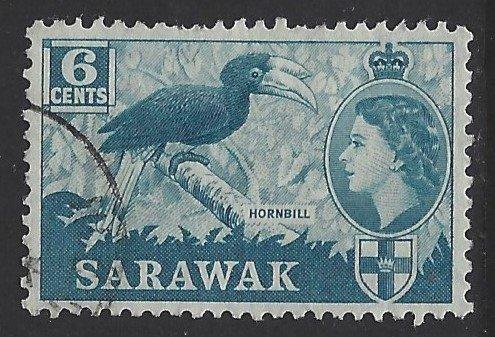 Sarawak, Scott #200; 6c Queen Elizabeth II, Used