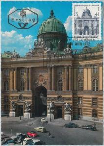 63386 -  AUSTRIA - POSTAL HISTORY: MAXIMUM CARD 1972 -  ARCHITECTURE