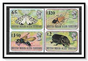 British Indian Ocean Territory #86-89 Insects Set MNH
