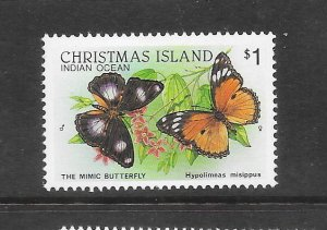 BUTTERFLIES - CHRISTMAS ISLAND #209   MIMIC BUTTERFLY  MNH