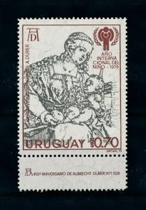 [100073] Uruguay 1979 Art Painting Durer Madonna with Child  MNH