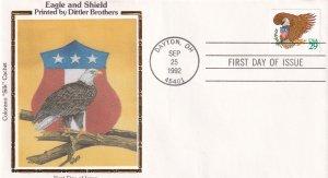 1992, Eagle & Shield, Colorano Silk, FDC (E12241)