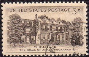 United States 1081 - Used - 3c Wheatland (1956)