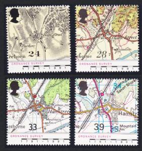 Great Britain Bicentenary of Ordnance Survey 4v SG#1578-1581 SC#1392-1395