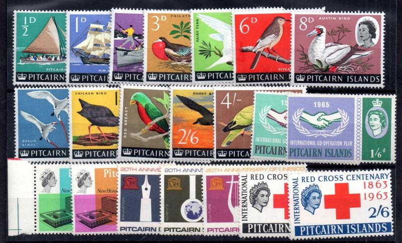 Pitcairn Island 1963-1965 mint QEII collection WS7373