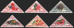 Cameroon. 1963. 35-44 from the series. Flowers, flora. MNH.