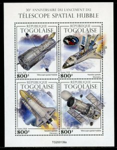 TOGO 2020  30th ANNIVERSARY OF THE HUBBLE SPACE TELESCOPE SHEET MINT NH