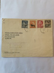 KUT East Africa 1954 first day cover. Small tears in top of envelope.