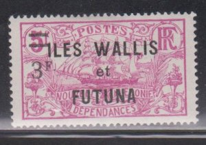 WALLIS & FUTUNA ISLANDS  Scott # 40 MH - Overprint & Surcharge