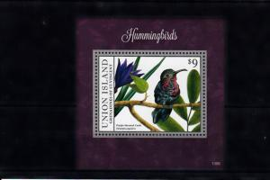 Union Island Grenadines St Vincent 2013 MNH Hummingbirds I 1v S/S Birds Carib