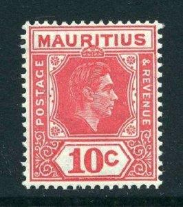 Mauritius 1938 KGVI 10c perf 15x14 SG 256c mint
