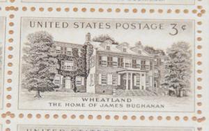 1956 sheet, Wheatland Issue, Sc# 1081