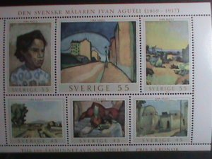 SWEDEN STAMP-1969 SC#821 PAINTING BY IVAN AGUELI MNH-SHEET VERY FINE
