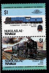 Nukulaelae-TUVALU Scott 16 MNH** Train pair