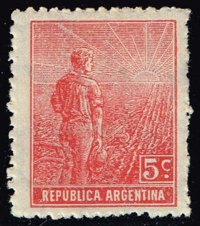 Argentina #194 Farmer and Rising Sun; Unused (0.30)